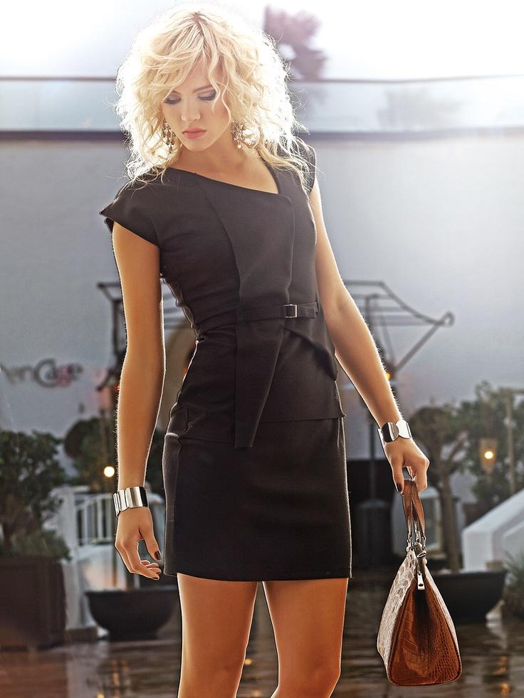 Платье MONDIGO. Цвет черный. Категории: Деловые платья, Платья, Повседневные платья.