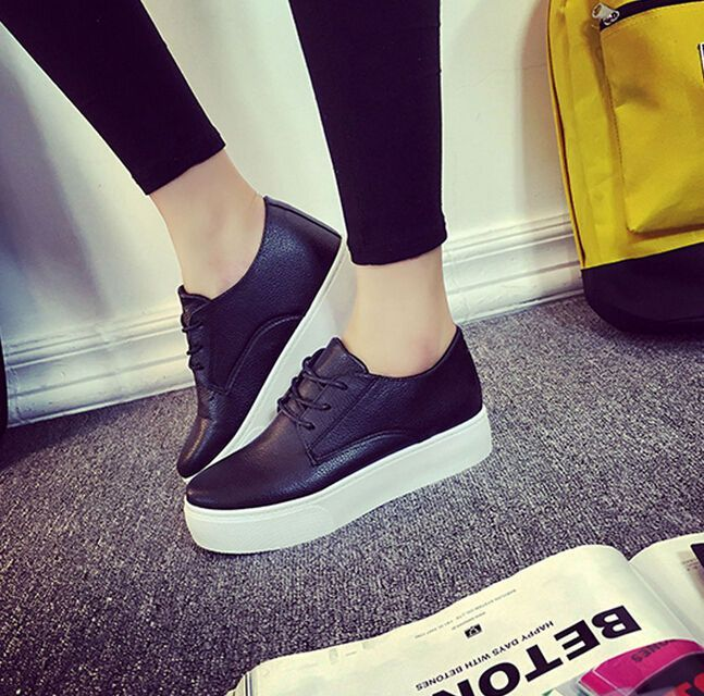 d46737326f2f Details about Women s Round Toe Lace Up Platform Fashion Sneakers Casual  Walking Shoes sg104