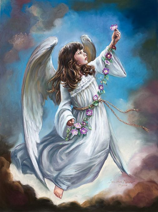 Angel - {By: Sandra Kuck - Artist}  September * Morning Glory - Angel Art