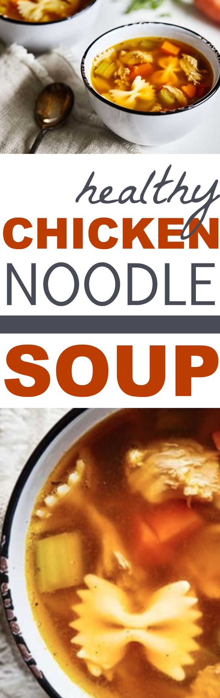 Healthy Chicken Noodle Soup #chickennoodlesoup #soup #healthysoup #cleaneatingsoup #healthychickennoodlesoup #cleaneatingchickennoodlesoup #cleaneatingsoup #dinner #lunch