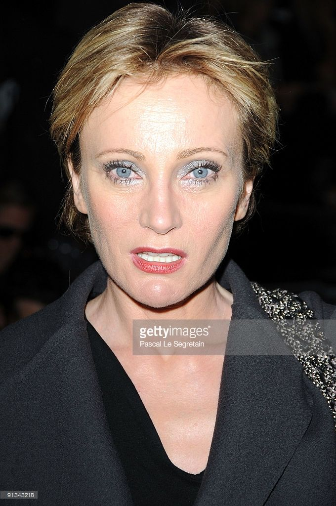 Patricia Kaas attends the Lanvin Pret a Porter show as part of the Paris Womenswear Fashion Week Spring/Summer 2010 on October 2, 2009 in Paris, France