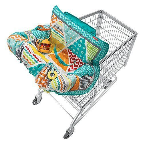 Compact Portable Shopping Cart Cover Chair Safety Harness Seat Extra Padding #Infantino