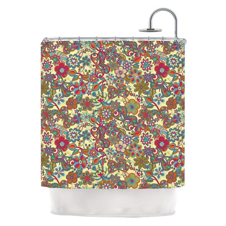 Kess Inhouse Julia Grifol Floral Shower Curtains - JG1003ASC01