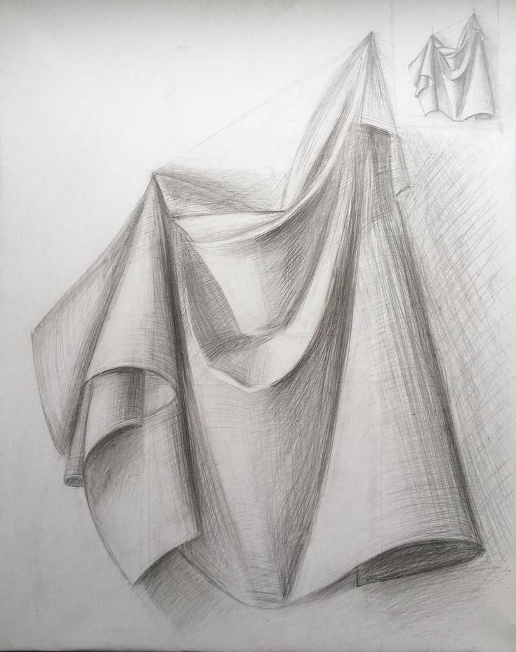 Рисунки карандашом на ткани фото