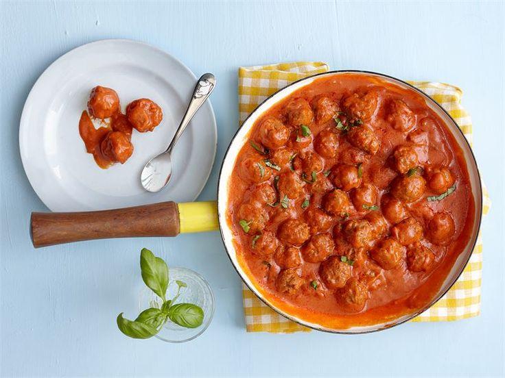 Tomaattiset minilihapullat, alkaen 10 kk
