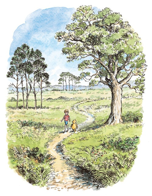 Walking with your best friend. E H Shepard