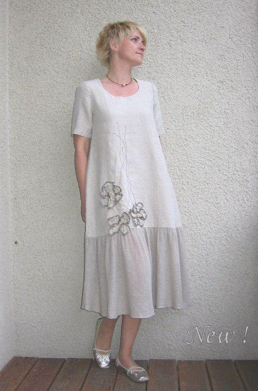Eco friendly  linen dress by rubuartele on Etsy,