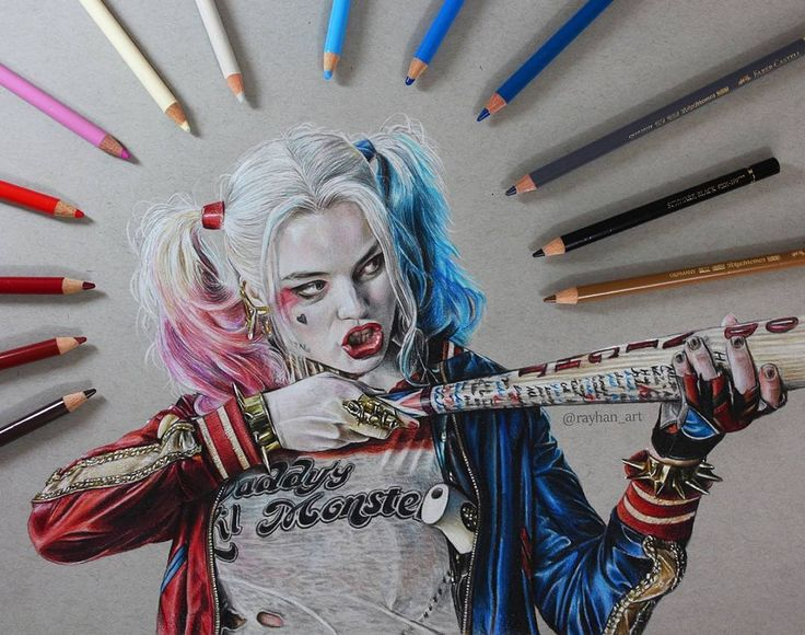 Harley Quinn. Movie Characters Drawings and More. By Rayhan Miah.