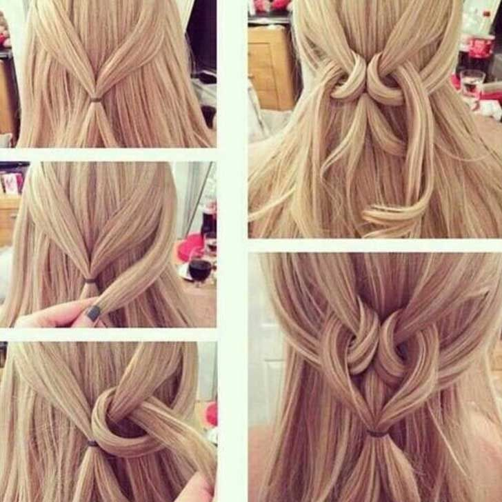 20 Easy Hairstyles For Lazy Girls To Rock Hair Styles Long Hair Styles Heart Hair