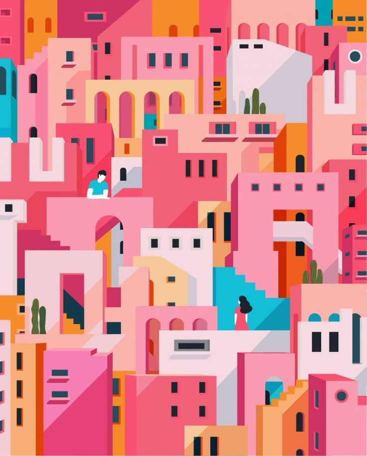 #multiple #vibrant #shades #gives #like #pink #with #pops #blue #look #the #of #i #aI like the multiple shades of pink with the pops of blue, gives a vibrant look