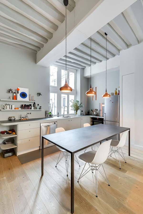 Bright and airy interiors showcased in a Paris bachelor pad by interior architect Tatiana Nicol