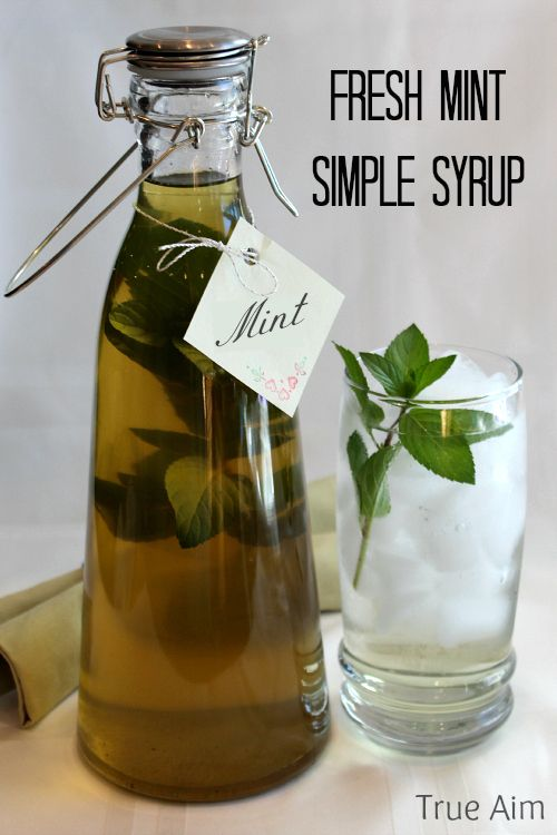 Easy fresh mint simple syrup - use it in water, drinks, desserts, and candy recipes.
