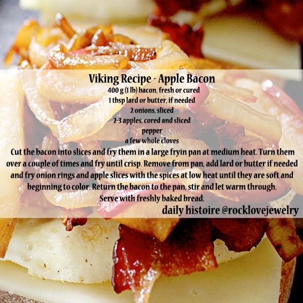 A perfect Viking-style breakfast treat for Autumn!  Apples and Bacon!