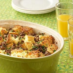 This breakfast casserole is not only low-fat and easy to prepare, but it's also a great make-ahead breakfast or brunch dish. Prepare the casserole overnight, then bake in the morning for a hearty and piping hot meal. For more recipes like this one, see our complete breakfast and brunch recipe collection.