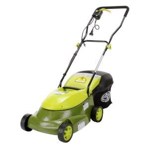 Sun Joe 14 in. 12 amp Electric Lawn Mower-MJ401E at The Home Depot  ...  Great Reviews and only 99.00