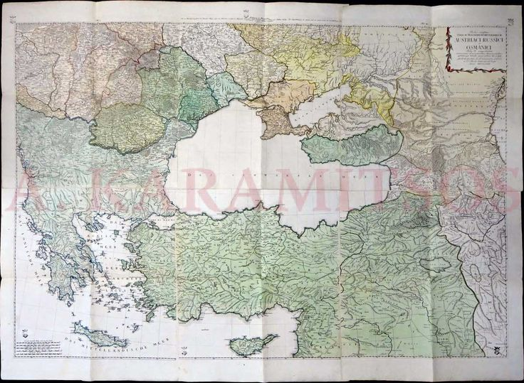 "RHODE Johann Christoph, ""Partes confines Trium Magnorum Imperiorum Austriaci Russici et Osmanici…"""