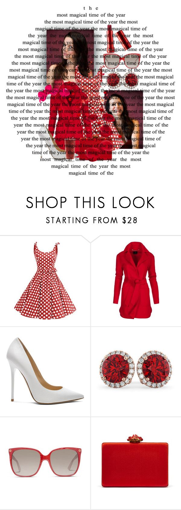 """""""Untitled #9387"""" by princhelle-mack ❤ liked on Polyvore featuring Jimmy Choo, Allurez, Gucci and Oscar de la Renta"""