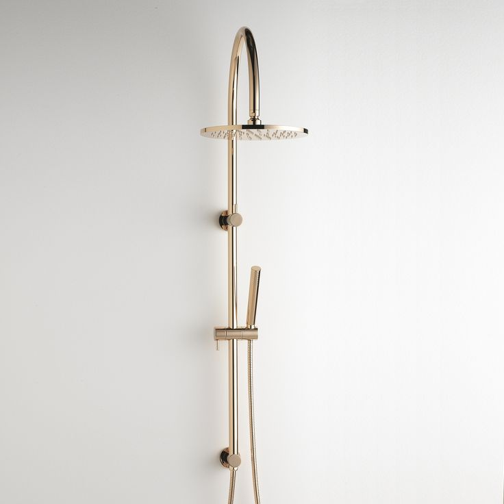 Synonymous with elegance and style, this exquisite Pegasi Dual Shower is the perfect focal point for your bathroom. The minimalist clean flowing design is accentuated with the dramatic Rose Gold finish, and will complement your luxurious setting. #faucetstrommen #pegasi