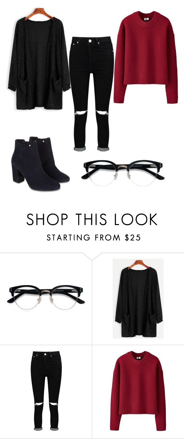 """Inspired by Dodie Clark"" by beatrizcris ❤ liked on Polyvore featuring Ace, Boohoo, Uniqlo and Monsoon"
