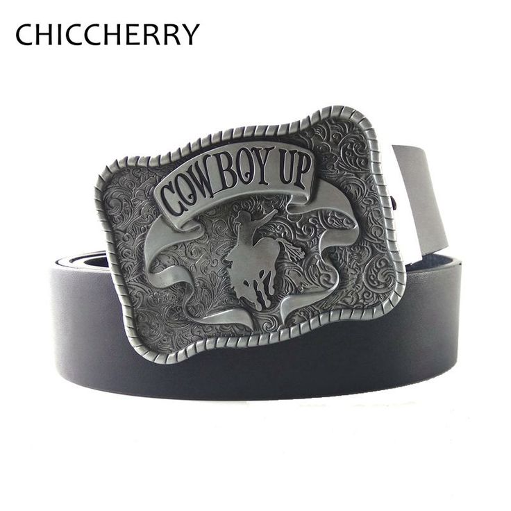 >> Click to Buy << Fashion Western Cowboy Black PU Leather Belts For Men Jeans Cowboy Up Rodeo Metal Belt Buckles Vaqueros Cinto Cinturon Hombre #Affiliate