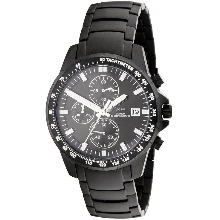 Armbanduhr titan schwarz