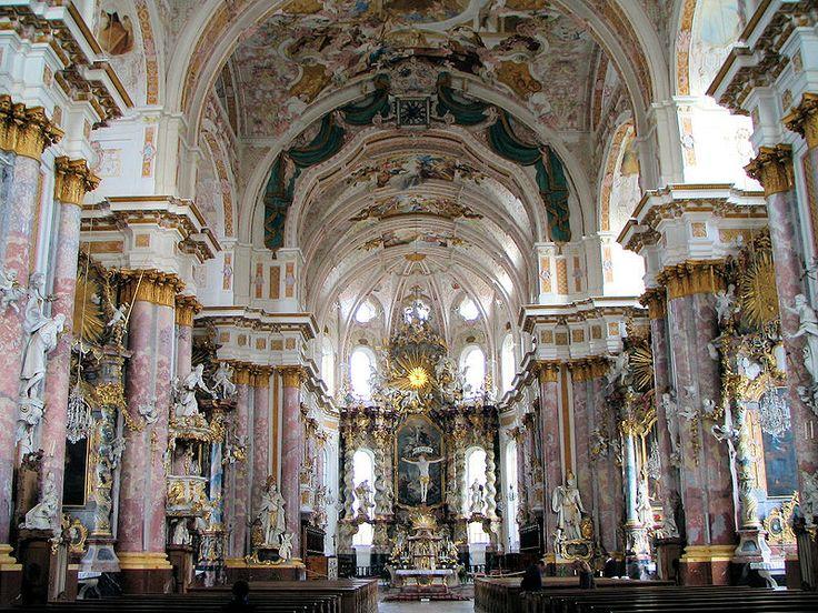 German baroque church churches cathedrals pinterest for Churches of baroque period