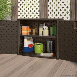 Resin Outdoor Patio Cabinet, Browns/Tans