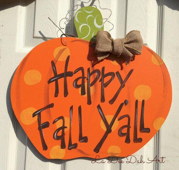 Personalized Door Decor Pumpkin Fall Decor Fall by ladeedahart, $24.00