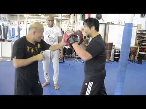 Dan Inosanto training with Anderson Silva - YouTube