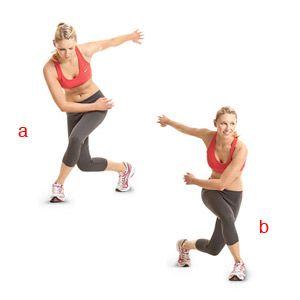 Speed Skater -slide/leap from side to side -swinging ...