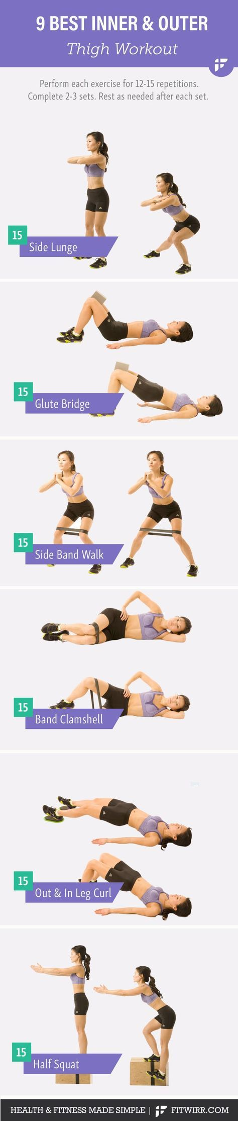 Inner and outer thigh workout. #innerthighexericises #exercise | Posted By: NewHowToLoseBellyFat.com