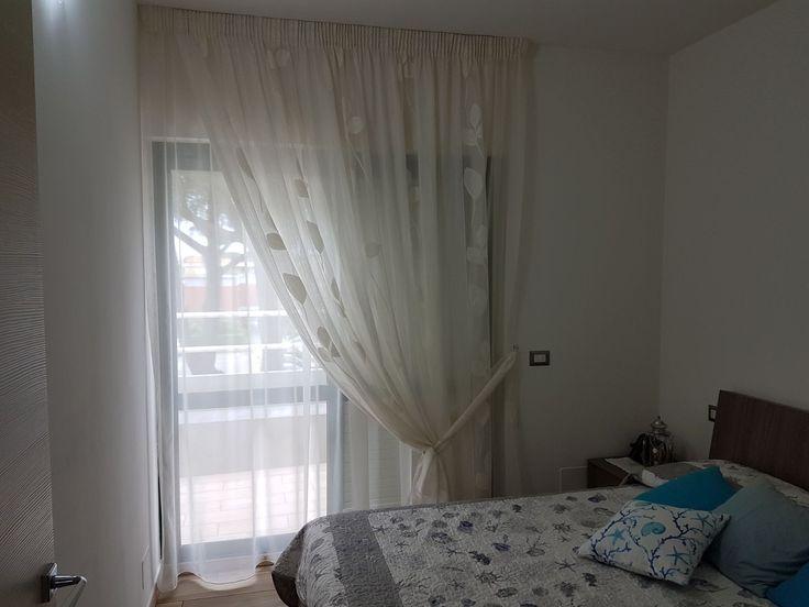 tende arricciate doppie per camera da letto