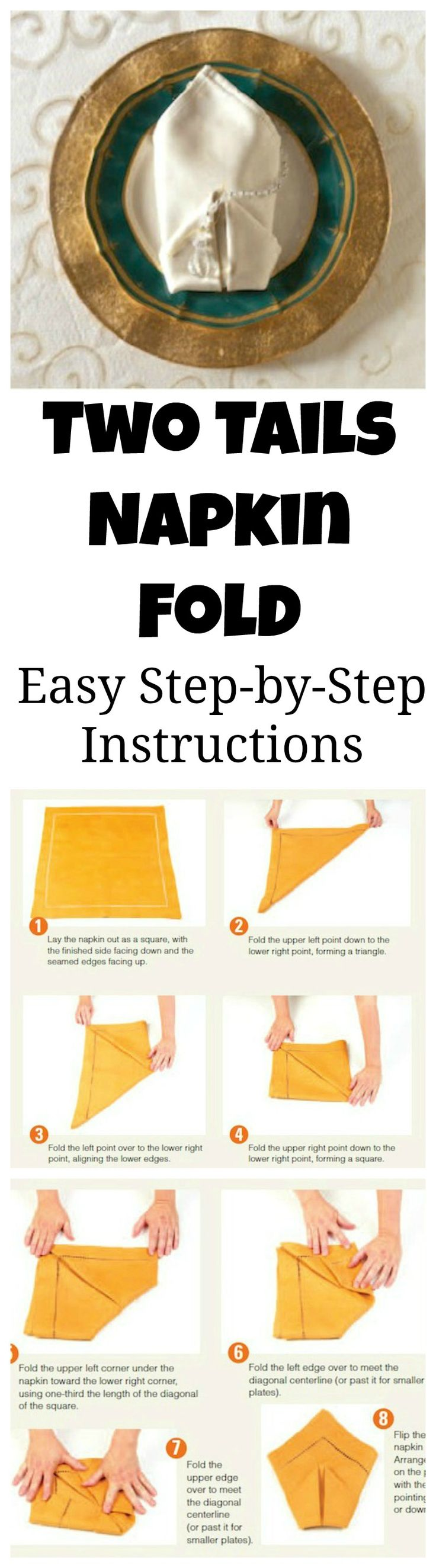 Easy step by step instructions to fold your napkins into for How to fold napkins into turkeys
