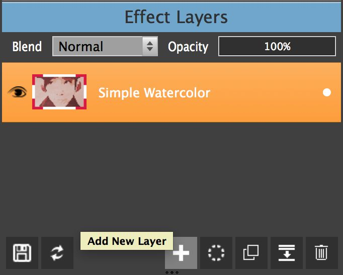 Add New Layer options in PhotoDonut