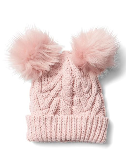Gap Cable Knit Pom Pom Beanie
