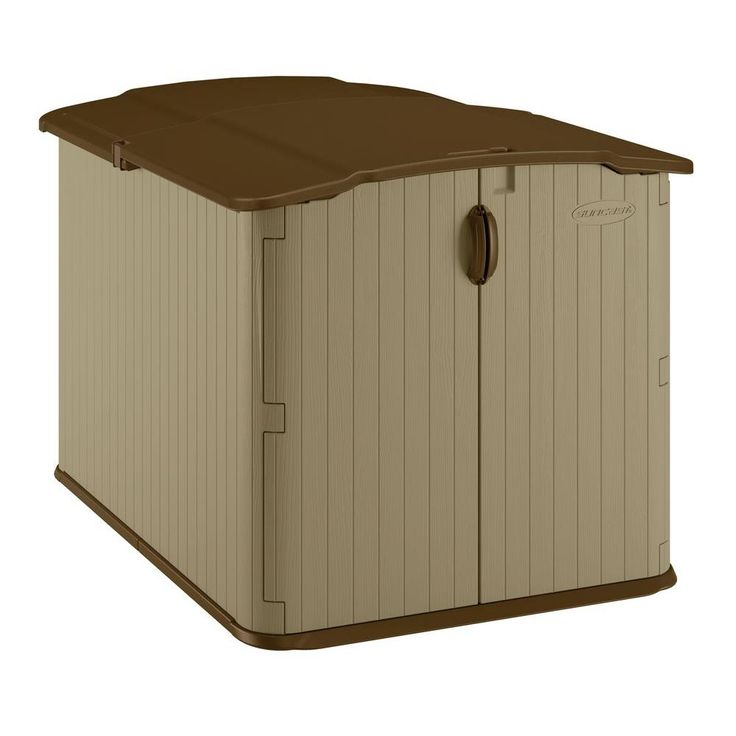 Suncast Glidetop 6 ft. 8 in. x 4 ft. 10 in. Resin Storage Shed-BMS4900 - The Home Depot