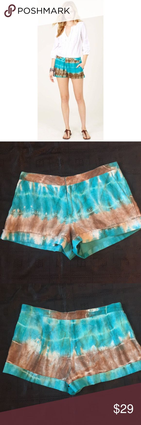 Calypso St. Barth Kerala Tie Dye Linen Shorts Gorgeous Calypso St. Barth Kerala Tie-Dye Linen shorts.  EUC!  See pictures for measurements. Calypso St. Barth Shorts