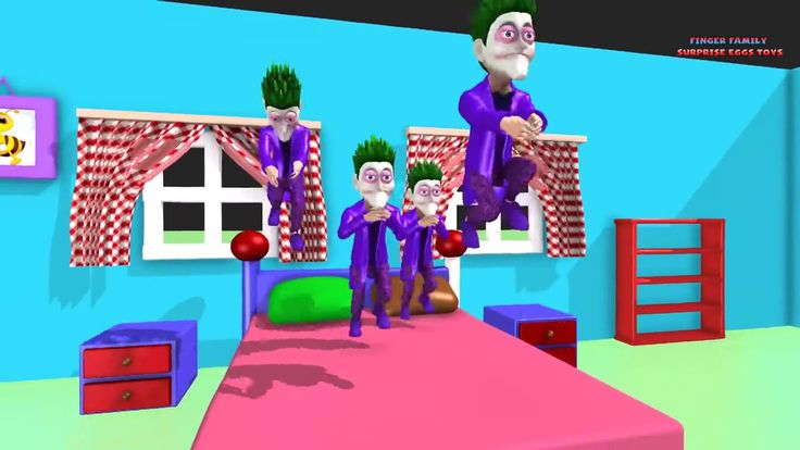 File Little Monkeys Jumping On the Bed with Joker and Spiderman. Educational Kids video -_.