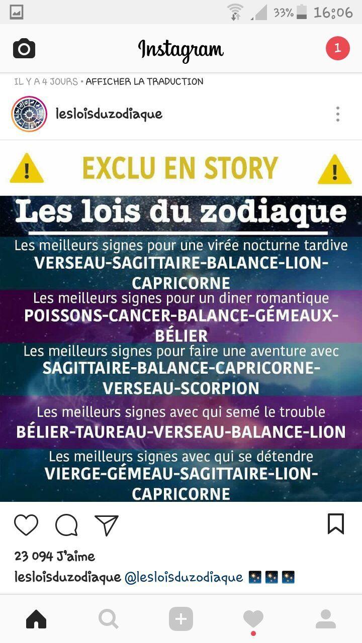 Avec Moi Tu Fait Tout Sauf Te Detendre Xd Signe Astrologique