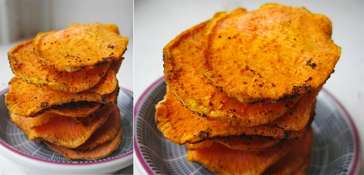 Dehydrator Raw Chili Sweet Potato chips  #raw #vegan #snacks