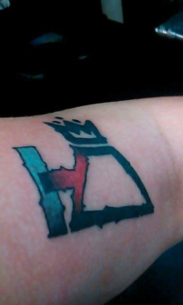 Fall Out Boy and Twenty One Pilots Tattoo. Pretty cool ink! Might consider getting it one day...