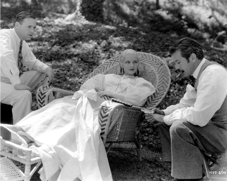 Director Henry Hathaway with Ann Harding and Gary Cooper on the set of Peter Ibbetson, 1935.