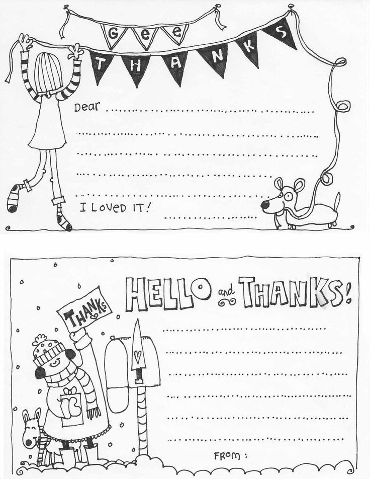 Hadley Designs Fill In The Blank Thank You Card Fill In Note Cat Kids Birthday Fill In Thank You Card Template Kids Fill In