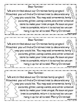 **FREEBIE** Christmas Tree Family Project #SmartTartsLearning #Christmas #Kindergarten