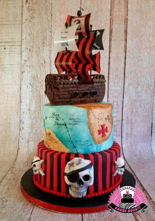 Pirate Ship Cake - Cake by Cakes ROCK!!!