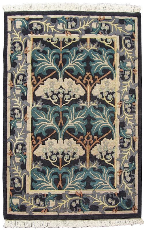 Fintona 4x6 Voysey Design Rug. Hand Knotted With 100% Wool. $539. They