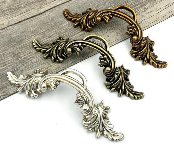 "2.5/"" Gold Silver Drawer Pull Cabinet Knobs Handles Dresser Pulls Knob 2 1//2/"" 64"