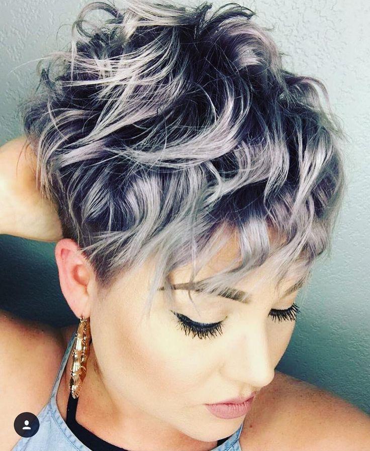 "4,575 Me gusta, 28 comentarios - @shorthair_love en Instagram: ""Who loves curls? @peachpaintshair #shorthairlove #pixiecut #pixie #undercut #curlyhair #hair…"""