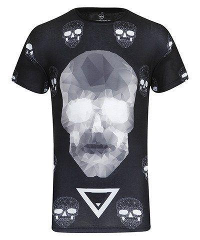 IBIZA Sinners POLYGON SKULL T-SHIRT | BLACK #shirt #designer
