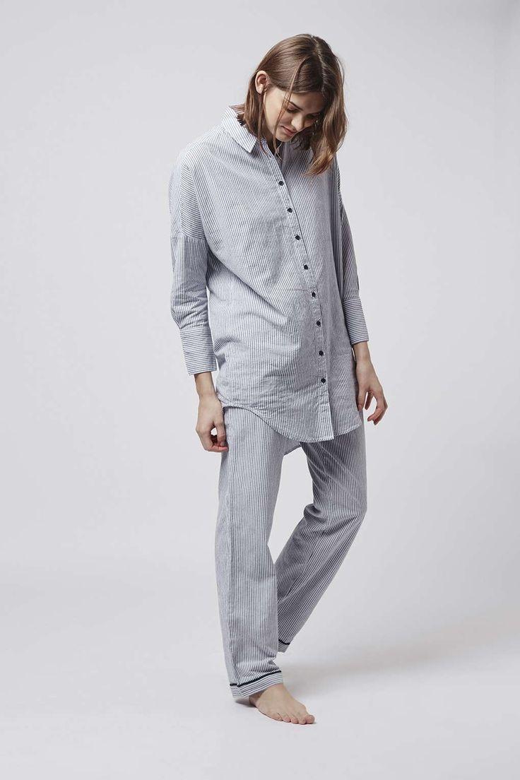 Stitch Stripe Nightshirt and Pyjama Trousers